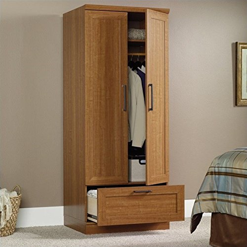 042666108621 - Sauder Homeplus Wardrobe/Storage Cabinet, Sienna Oak Finish carousel main 1