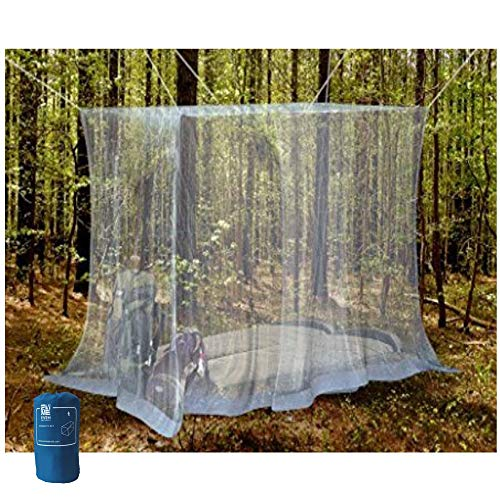 Twin Canopy Cover - EVEN NATURALS Luxury Mosquito Net for Bed Canopy, Tent for Single to Twin XL Size, Finest Holes: Mesh 380, Square Netting Curtain for Bunk Bed, 1 Entry, Easy Installation, Storage Bag, No Chemicals