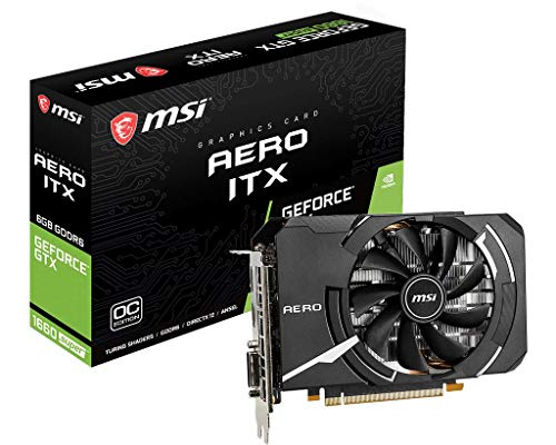MSI NVIDIA GEFORCE GTX 1660 SUPER AERO ITX OC Graphics Card '6GB GDDR6, 1815MHz, mini ITX design, DisplayPort, HDMI, DVI-D, Single Fan Cooling System'