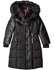 "Canada Weather Gear Little Girls' ""Faux Leather Sleeve"" Parka"