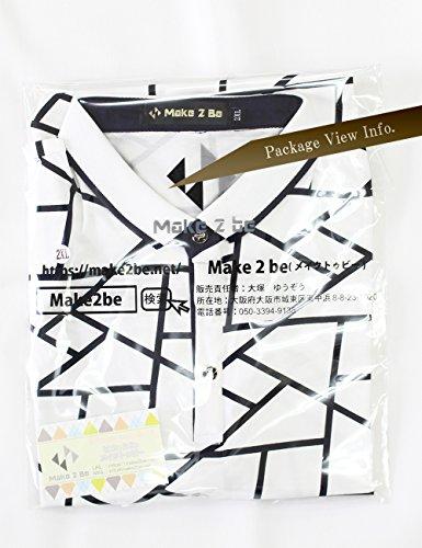 (Make 2 Be) メンズ ポロシャツ柄 半袖 カジュアル シャツ ゴルフ ウェア MF46