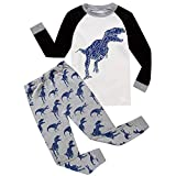 Toddler Kids Pjs,Baby Boys Girls Cartoon Print Tops and Pants Outfits Set (7 years old, White)
