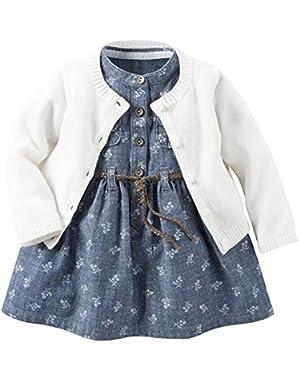 Baby Girls' Dress Sets 121g882, Denim