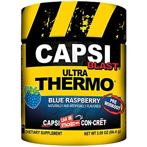 Con-Cret Capsi Blast - Pre-Workout - Blue Raspberry - 48 Servings