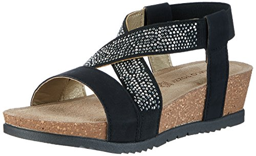Marco Tozzi Women's 28734 Wedge Heels Sandals Black (Black 001) g7XSyvWu5S