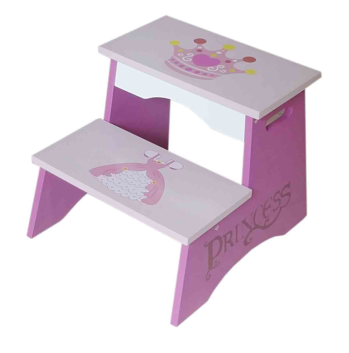Kiddi Style Childrens Princess Themed Wooden Steps Bebe Style PRNC-1STP