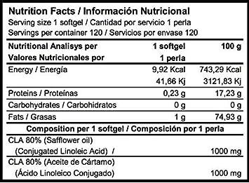 CLA 1000 120 perlas - ACIDO LINOLEICO CONJUGADO: Amazon.es: Salud y ...