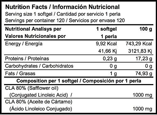 CLA 1000 120 perlas - ACIDO LINOLEICO CONJUGADO: Amazon.es ...