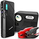 Imazing Portable Car Jump Starter - 1500A Peak 12000mAH (Up to 8L Gas or 6L Diesel Engine) Auto Battery Booster Power Pack Phone Power Bank With Smart Charging Ports