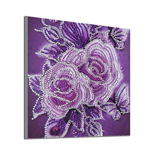 Special Shaped Diamond Painting,DIY 5D Partial Drill Peony Flower Cross-Stitch Mosaic Beads Art Work Home Décor Toponly