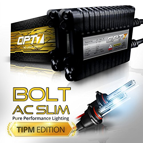 Pro Magnum Retrofit (Bolt AC 35w Slim HID Kit - All Bulb Sizes and Colors - TIPM Resistor Bundle - 2 Yr Warranty [9006 - 8000K Ice)