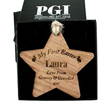 My first easter wooden star babys 1st easter keepsake gift my my first easter wooden star babys 1st easter keepsake gift my 1st easter gift personalised easter gift amazon kitchen home negle Choice Image