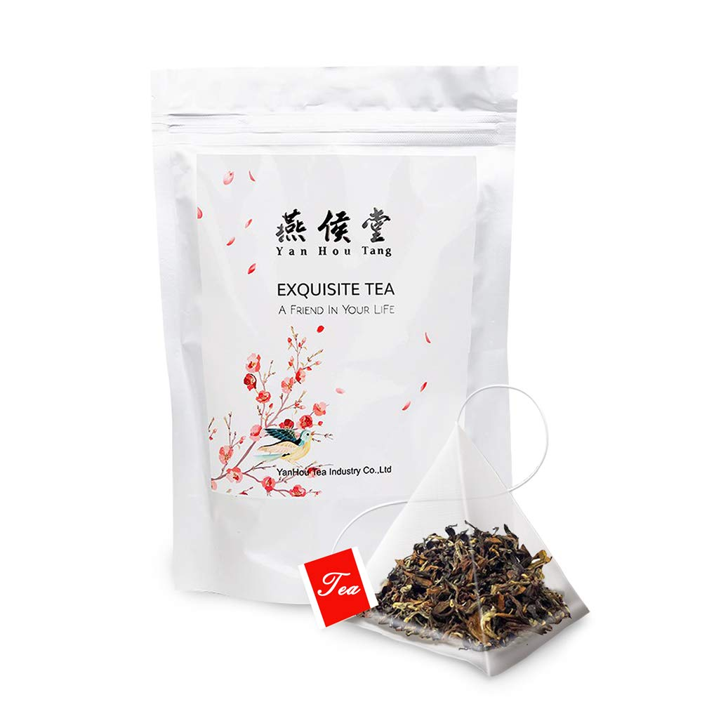Yan Hou Tang Organic White Oolong Tea Bags Oriental Beauty Dong Fang Mei Ren Sampler 50 Counts Honey Flavor Green Food Relaxation Stress Reduction Relief Sachet US FDA SGS