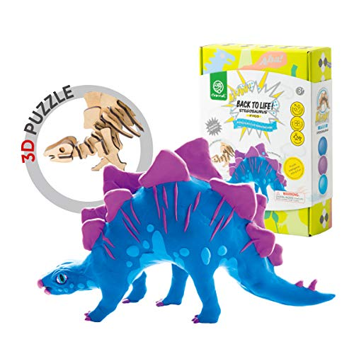 ROBUD DIY Dinosaur Modeling Clay-Realistic Dinosaur Figure with Air Dry Ultra Light Modeling Clay-Perfect for Arts and Crafts Projects(Stegosaurus)