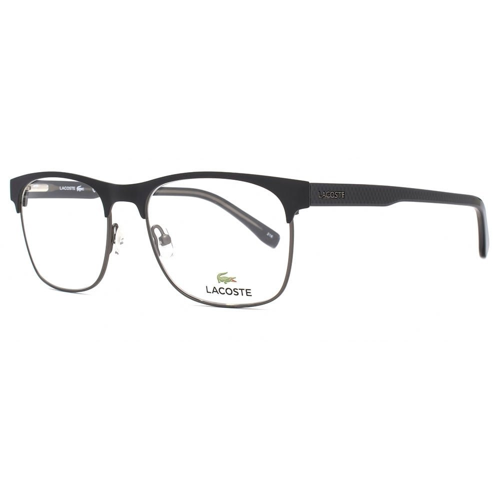 Lacoste L2218 Brille in mattem Schwarz L2218 001 53 53 Clear: Amazon ...
