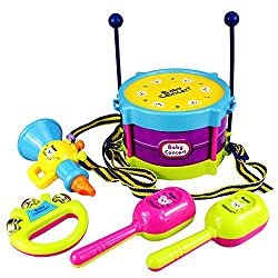 5X/Set Baby Infant Toddler Developmental Toy Kids drum rattles Educational Toys