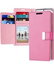 Samsung Galaxy Note 10 Plus Leather Cover Protection Wallet with Pockets Case, Fuchsia