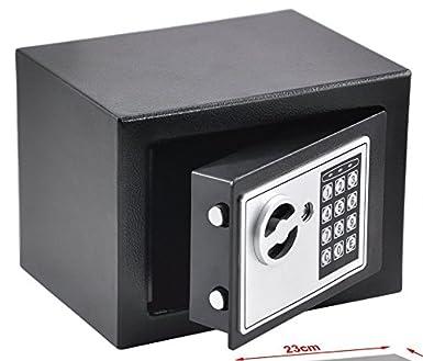 caja de seguridad electrónica (Cajas fuertes M01): Amazon.es: Oficina y papelería