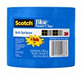 3M ScotchBlue Painter's Tape for Multi-Surfaces, .94 by 60-Yard, 4-Pack