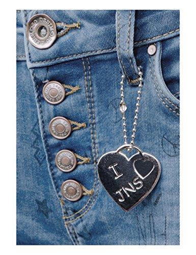 Bleu Jean Femme Blue fancy Slim Wash Street 11261 One Printed I7qwBB