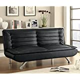 Coaster 500055 Home Furnishings Sofa Bed, Black