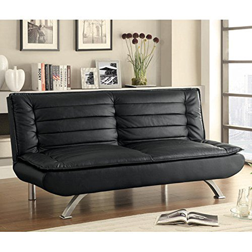 Amazon Com Used Sofas Couches Living Room Furniture >> Coaster 500055 Home Furnishings Sofa Bed, Black ~ Sofas