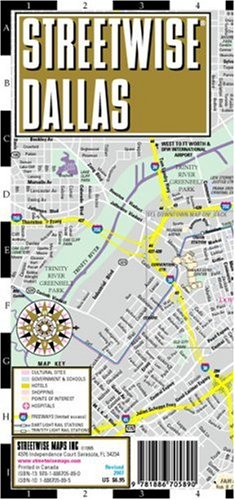 Streetwise Dallas Map - Laminated City Center Street Map of Dallas, Texas - Folding pocket size travel map with Dart & Trinity rail -