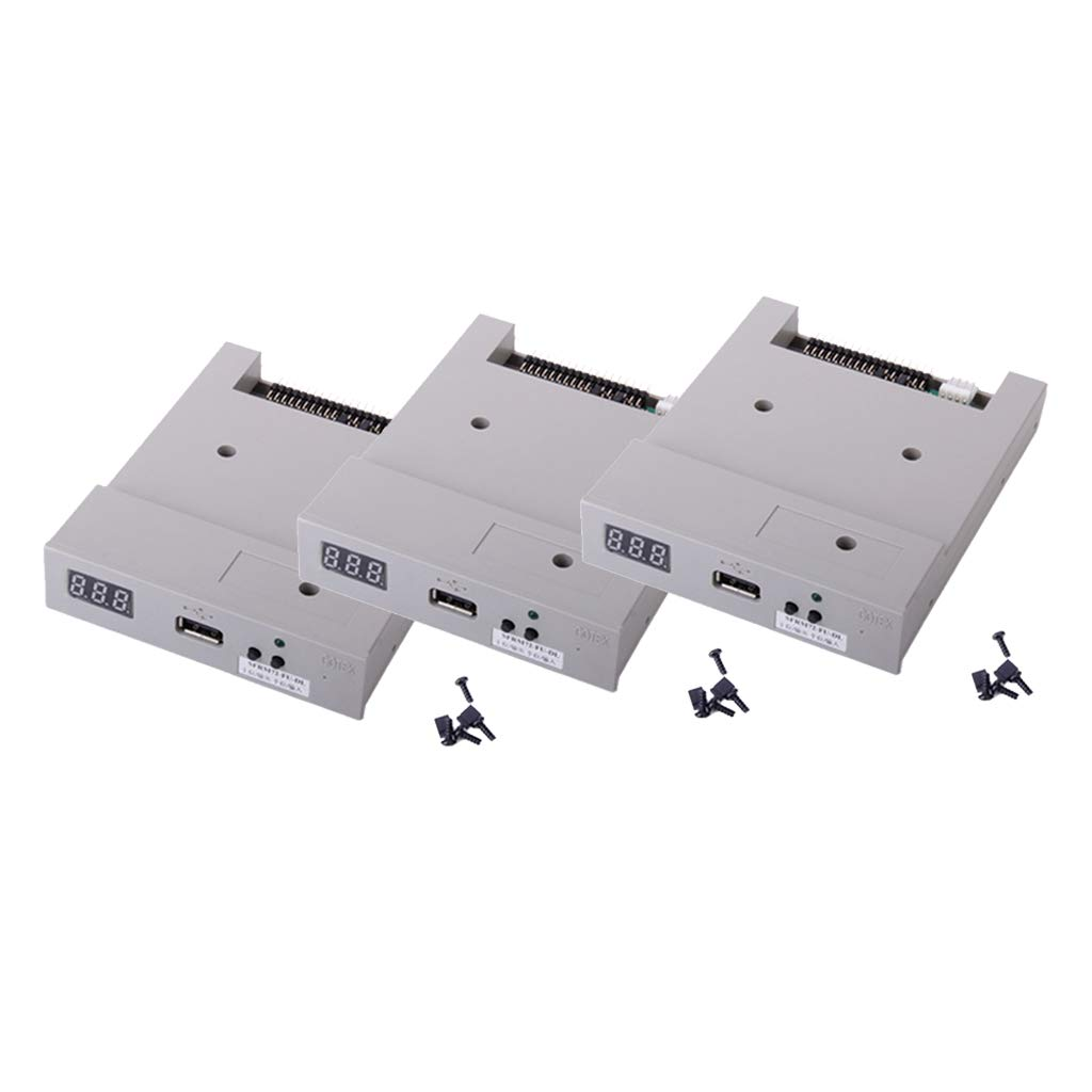 Baosity 3Pieces SFRM72-FU-DL Floppy Drive USB for 720KB Electronic