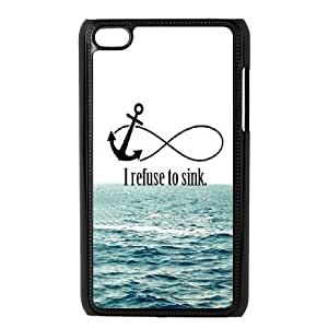 I Refuse to Sink Personalized Case for Ipod Touch 4, Customized I Refuse to Sink Case