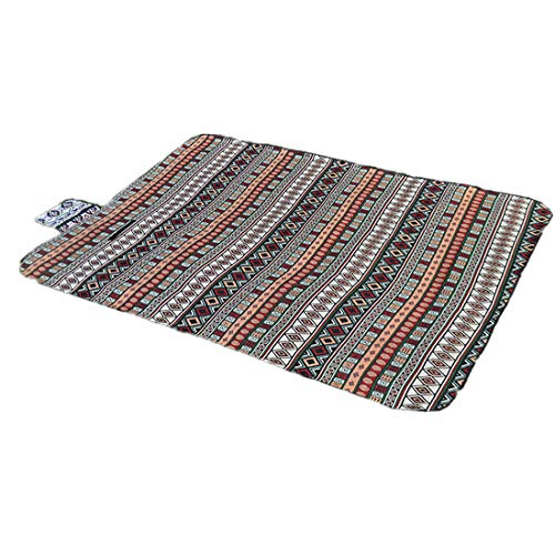 ZDTXKJ Outdoor Picnic Blanket Water-Resistant Beach Blanket National Wind Tent mat Crawling mat Portable Folding,Red,150100cm