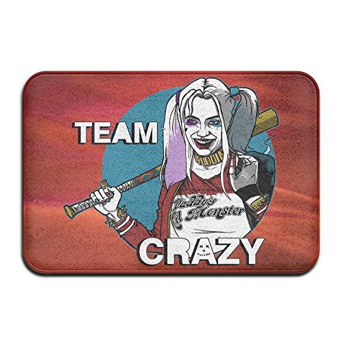 Team Crazy Harley Quinn Suicide Squad Non-slip House Garden Gate Carpet Door Mat Floor (Suicide Squad Margot Robbie Costume)