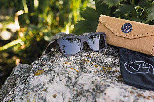 cas de flip un innovant soleil des avec tribal gravé en avec bois teintés avec lunettes noirs design verres en unisex ébène un 6OFdq64x