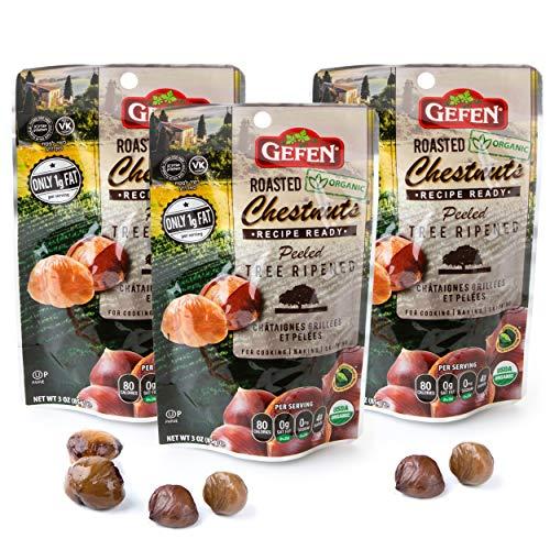 - Gefen Organic Whole Roasted & Peeled Chestnuts, 3oz (3 Pack)