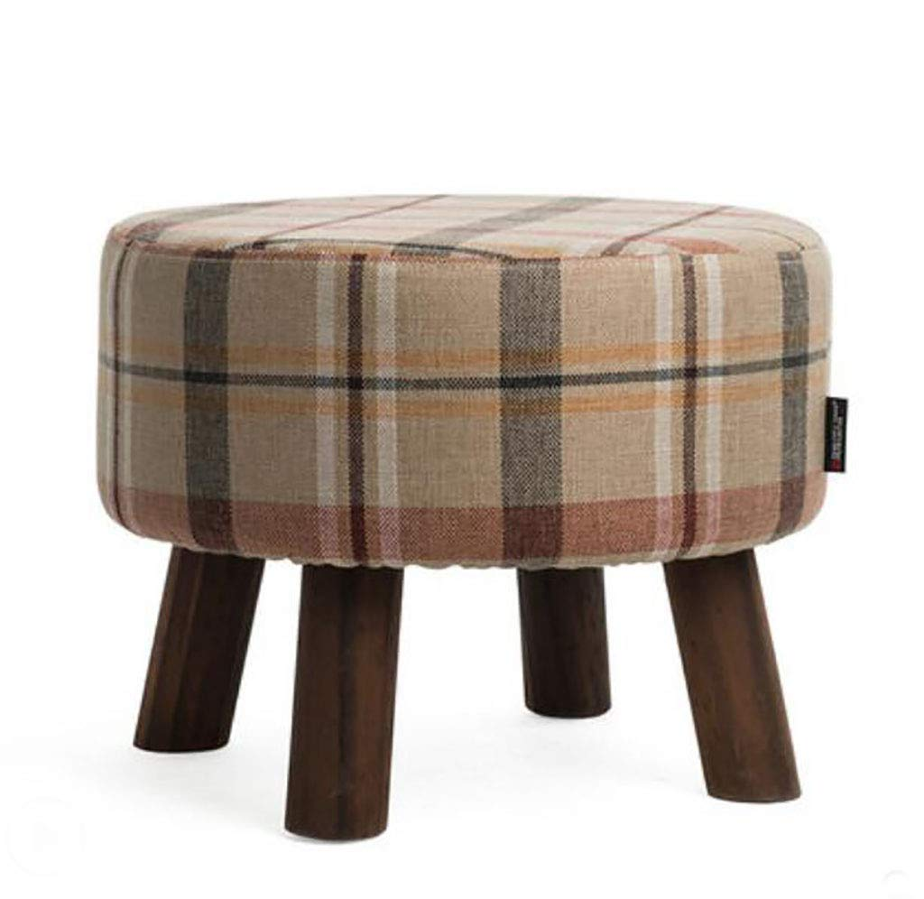 3 Sofa Stool Solid Wood shoes Bench Fabric Living Room Footstool Simple Modern shoes Stool Removable and Washable (color   3)