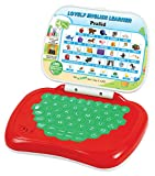 Prasid Lovely English Learner Kids Laptop, Red/Green