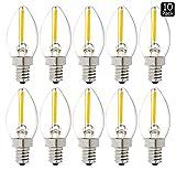 Luxrite LR21230 (10-Pack) LED Filament C7 Night Light Bulb, 0.5-Watt ...