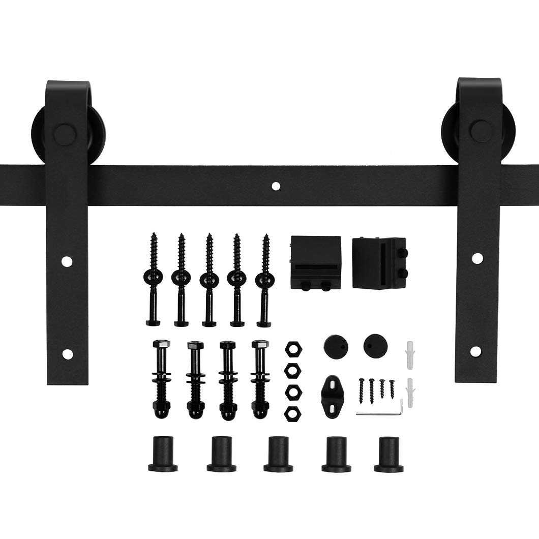 U-MAX 6.6 FT Heavy Duty Sturdy Sliding Barn Door Hardware Kit • Super Smoothly and Quietly Wheel• Includes Easy Step-By-Step Installation Instruction