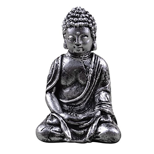 Dovewill Mini Resin Seated Buddha Statue Seated Meditation Sculpture Decorative Ornament