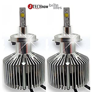 Jtech H7 Type High Power Focus Adjustable All in One Philips Xenon White Light LED Headlight - Replaces Halogen & HID Bulbs