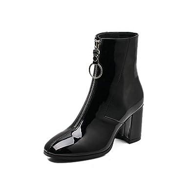 e058003aad2 Amazon.com | Womens Waterproof Platform Ankle Boots Round Toe Flat ...