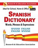 Spanish Dictionary, Rea, Staff of Research Education Association, 0878914552