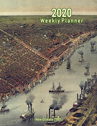 2020 Weekly Planner: New Orleans (1885): Vintage Panoramic Map Cover