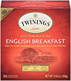 Twinings of London English Breakfast Black Tea Bags, 50 Count (Pack of 6)