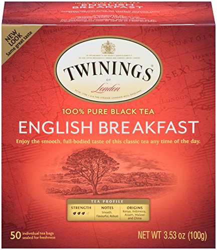 Twinings of London English Breakfast Black Tea Bags, 50 Count (Pack of 6) (Best English Breakfast Tea)