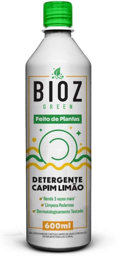 Detergente Capim Limão 600ml BIOZ Green LL Capi Unid 600ml