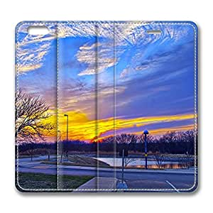 iPhone 6 Leather Case, Personalized Protective Flip Case Cover Troubled Sky for New iPhone 6