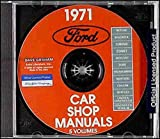 1971 FORD, MERCURY, LINCOLN FACTORY REPAIR SHOP & SERVICE MANUAL CD - Comet, Meteor, Maverick, Torino, Mustang, Thunderbird, Mustang Grande, Mach I, Shelby, Cobra, Montego, Cougar, Continental, Mark III 71
