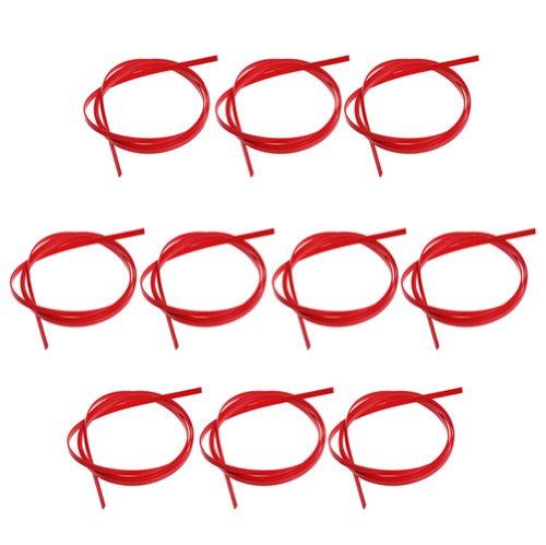 10pcs Red ABS 5 Feet Guitar Binding Purfling Strip 1650 x 6 x 1.5mm by Guitar binding
