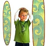Growth Chart Art | Wooden Surfboard Growth Chart for Boys & Girls | Nursery Wall Decor | Surfboard (The Wave)