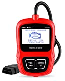 FOXWELL Automotive Obd2 Scanner NT200 Car OBD II Fault Code Reader Check Engine Light Error Codes CAN Obd ii Diagnostic Scan Tool Update Online(Red)